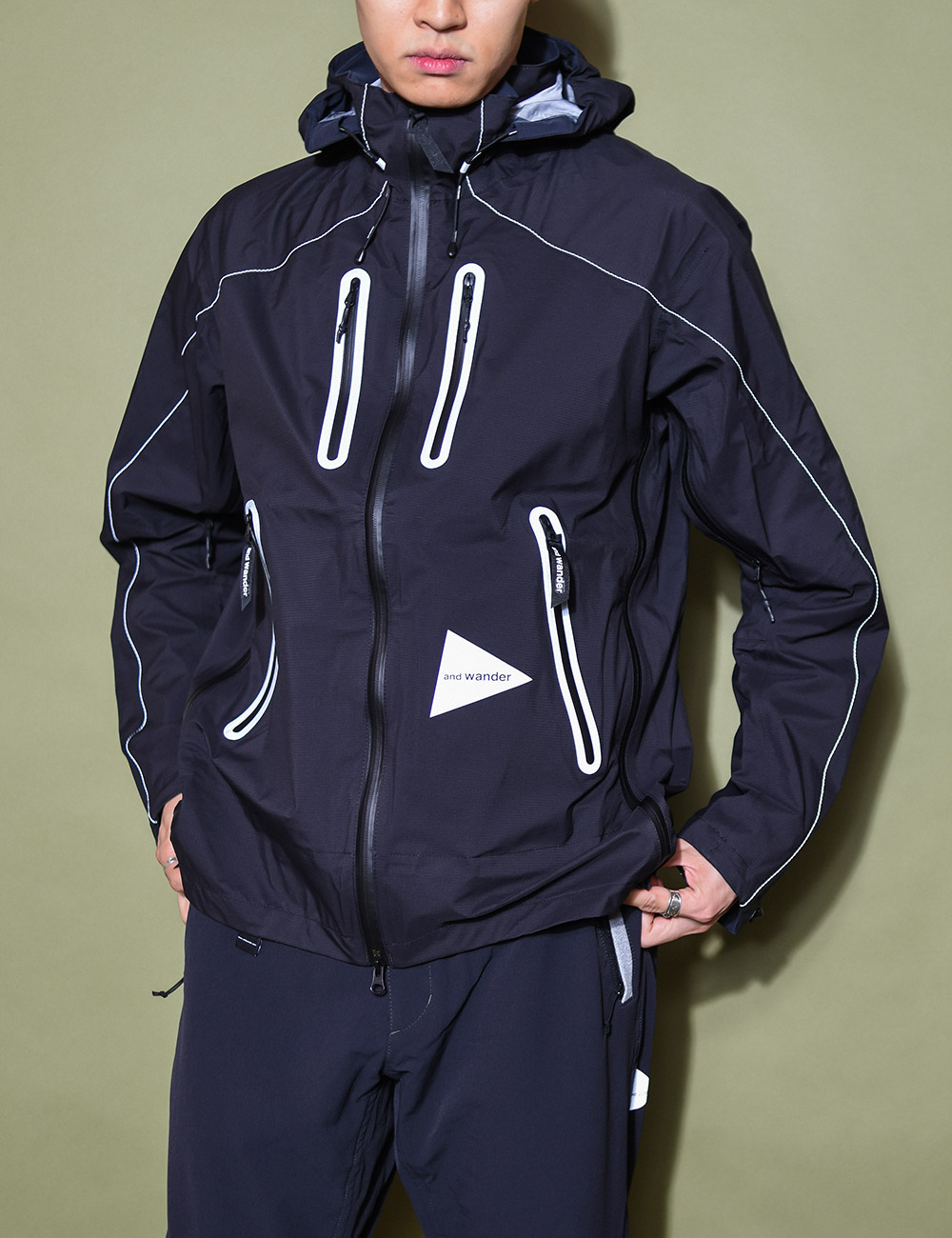 and wander : E VENT JACKET (BLACK)