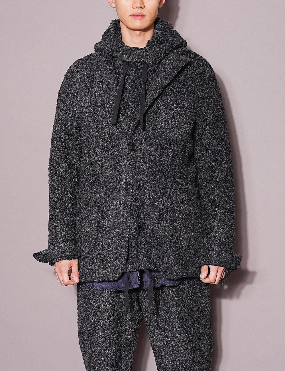 Engineered Garments : KNIT JACKET (CHARCOAL)