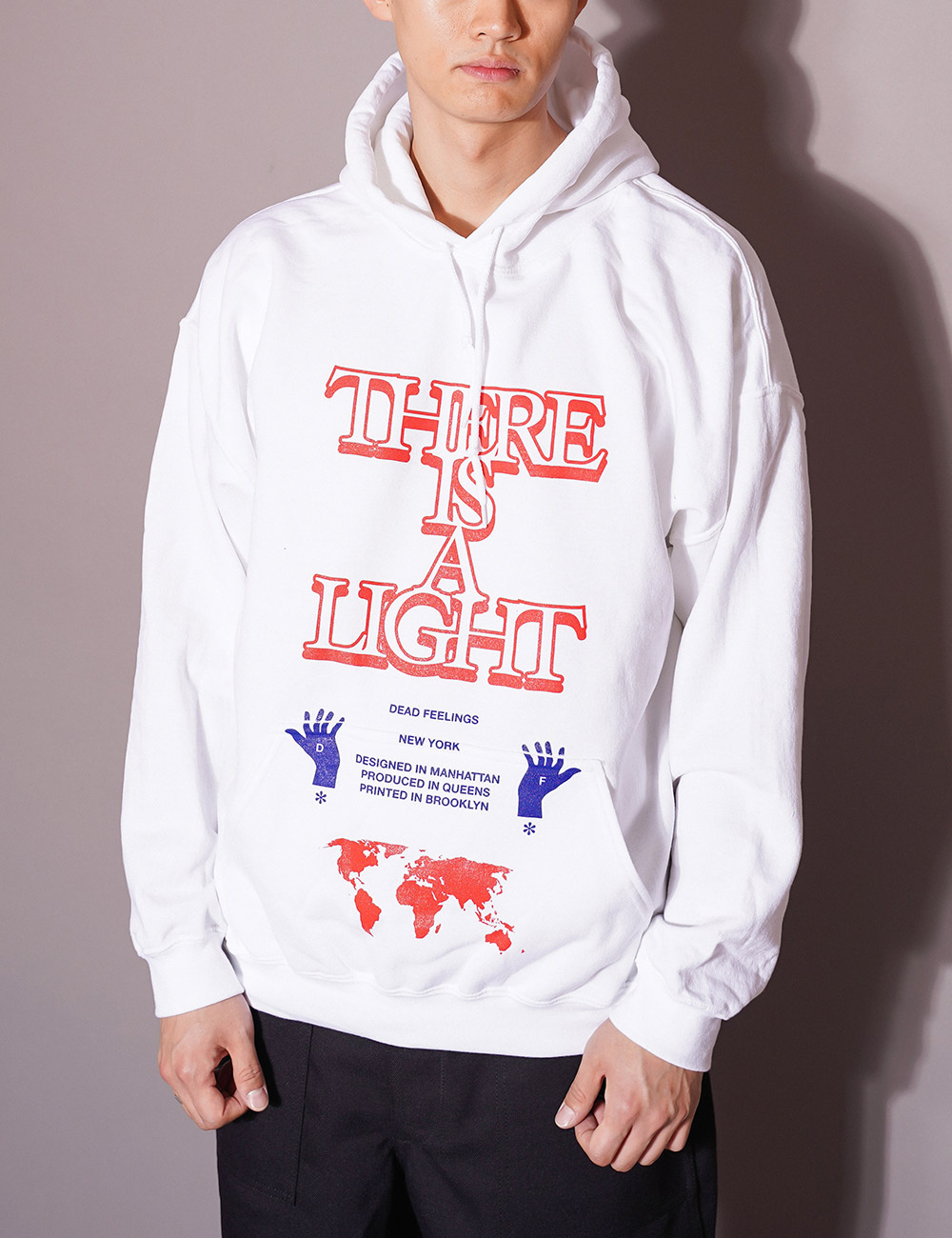 DEAD FEELINGS : PRINTED HOODY (WHITE)