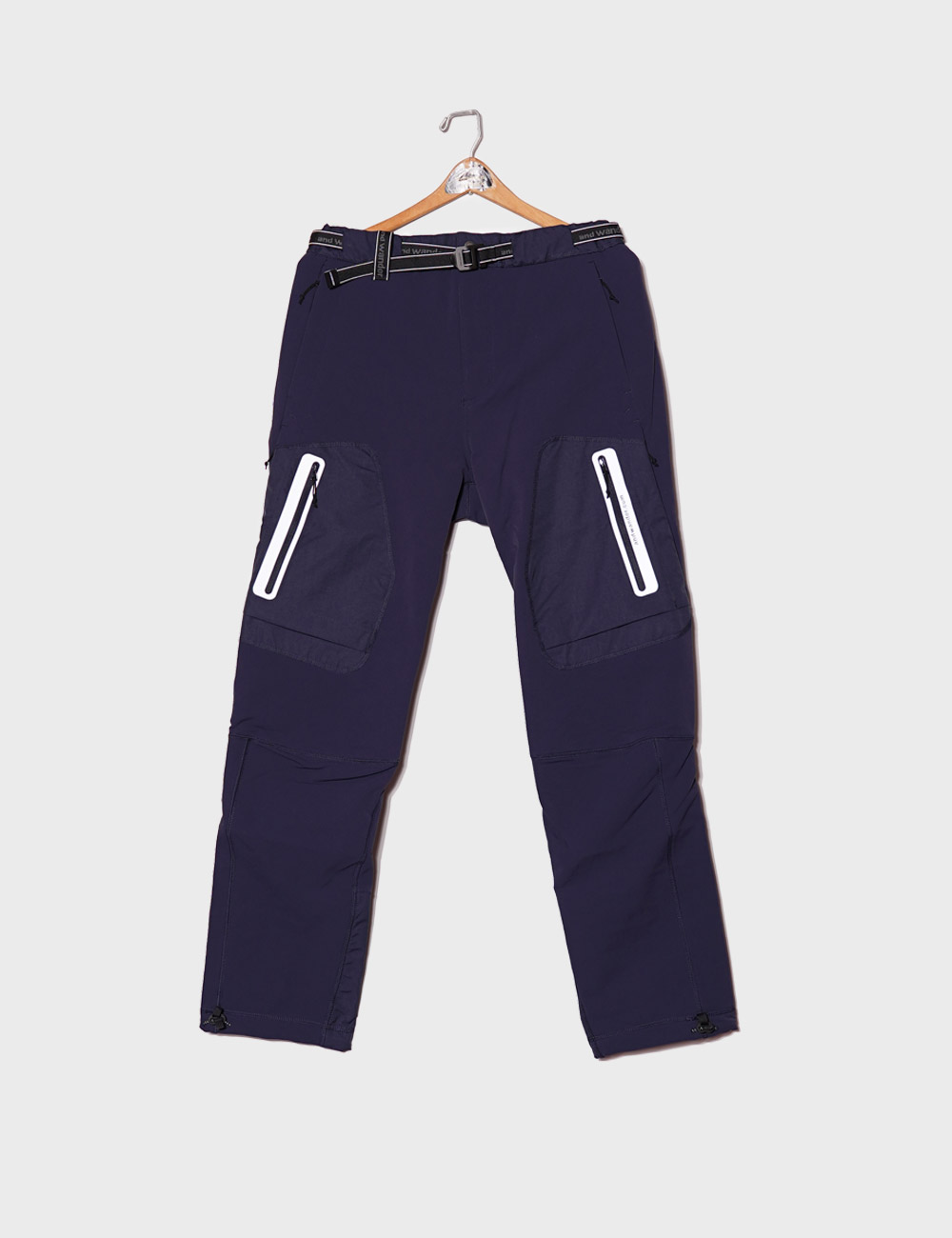 and wander : STRETCH SHELL PANTS (NAVY)
